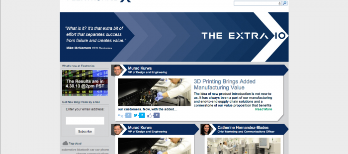 Flextronics Blog Responsive Website – Johnson Beesley