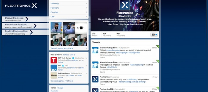 Flextronics Social Media – Johnson Beesley