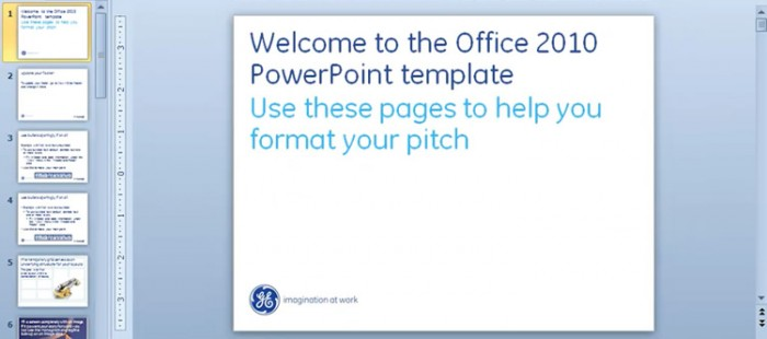 GE PowerPoint Training – Captain Brands